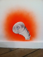 Leona Christie wall drawings / installations ink on paper, enamel spray paint on wall