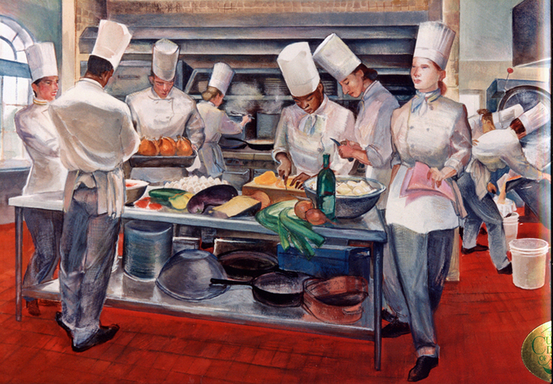 COMMISSIONS, MURALS & DECORATIVE SURFACES Great Women Chefs of America, Culinary Institute of America, Hyde Park, NY