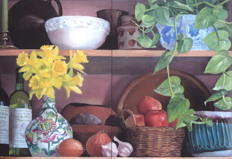 COMMISSIONS, MURALS & DECORATIVE SURFACES Kitchen cabinet doors, private residence, NY