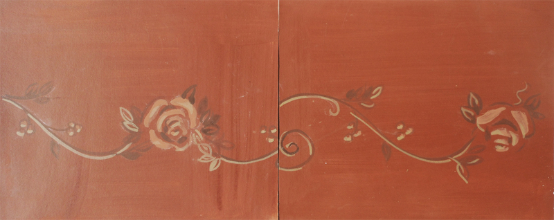 COMMISSIONS, MURALS & DECORATIVE SURFACES Fretwork, wall bordering ceiling