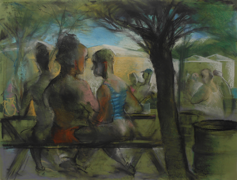 "COLLECTIVE CONSCIOUSNESS;            Carnivale / Restaurant  ""Oil Tank Picnic, Rondout, NY"""