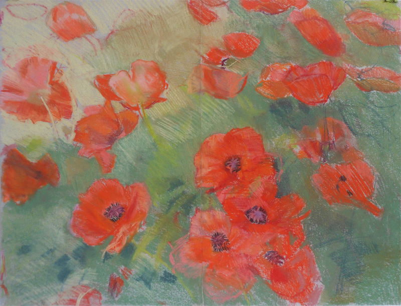 FLORALS Field of Poppies #2 2004