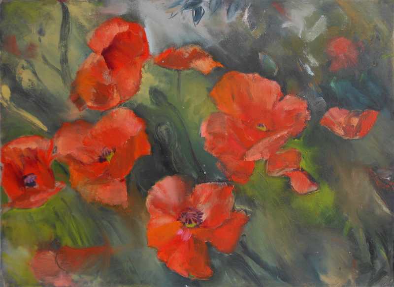 FLORALS Field of Poppies #1
