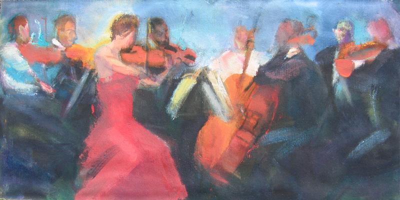 ORCHESTRA and MUSICIANS Red Dress