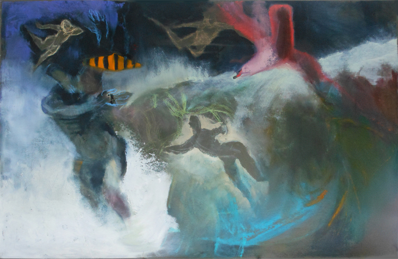 RECENT WORK Paintings and Drawings Toppling man
