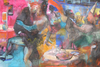 COLLECTIVE CONSCIOUSNESS;            Carnivale / Restaurant  acrylic, charcoal on canvas