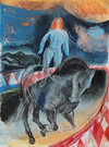 CIRCUS pastel, guoache on paper