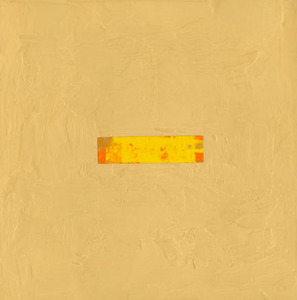 window WALL pigmented beeswax on panel