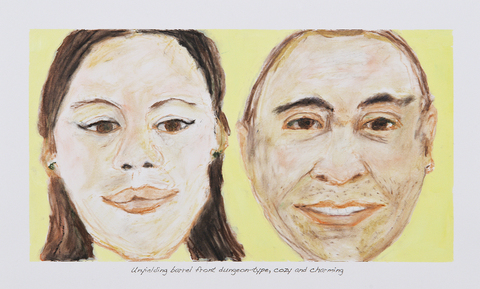 Leslie Kerby Portraits Oil pastel, acrylic and xerox transfer
