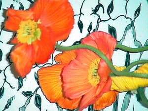 Leslie Alexander flora pigment ink on canvas