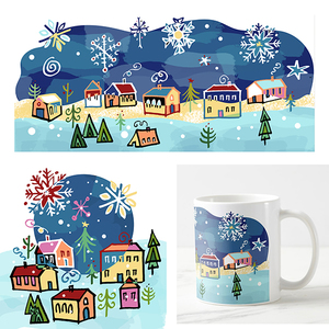 Leticia Plate Winter Holiday