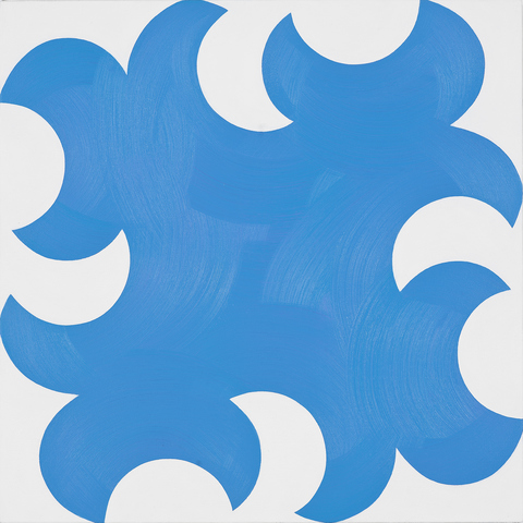 Paintings for a White Wall Sky Blue Cut-Outs with White