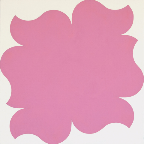 Paintings for a White Wall Pink S-Curves with White