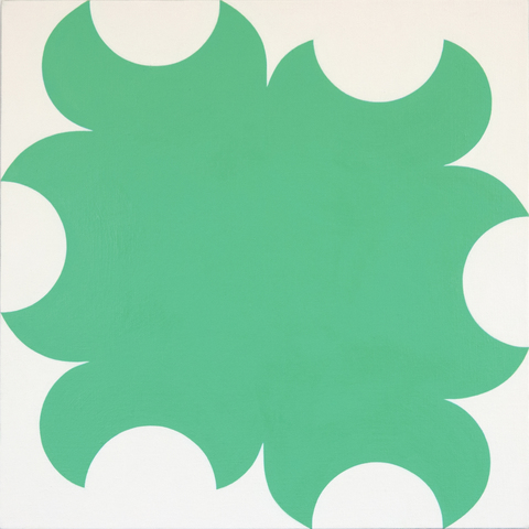 Paintings for a White Wall Green Cut-Outs with White