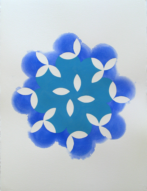 Ellipses Blue Blossom