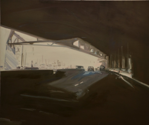 Linda Gottesfeld 2012-14 Pearlbrook Drive Series oil on canvas