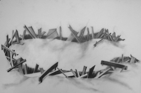 Linda Kallan COLORADO BOULEVARD Graphite on Vellum