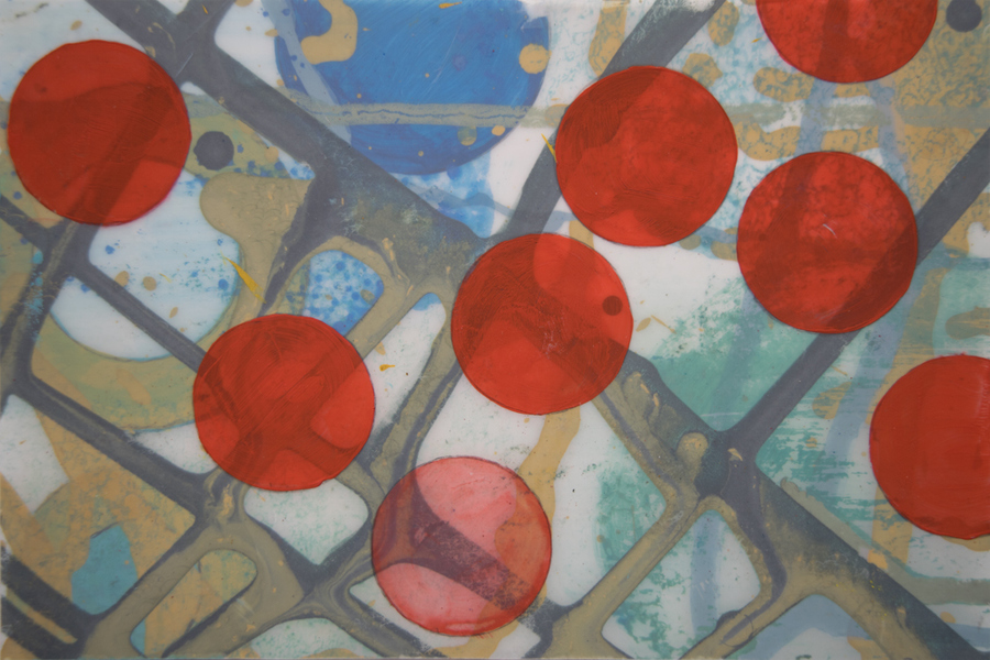 Small Paintings and Drawings Red Dots