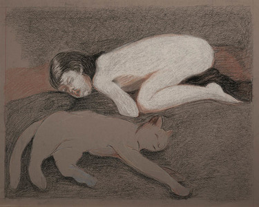 Linda Klein Drawings and Prints charcoal and pastel on paper