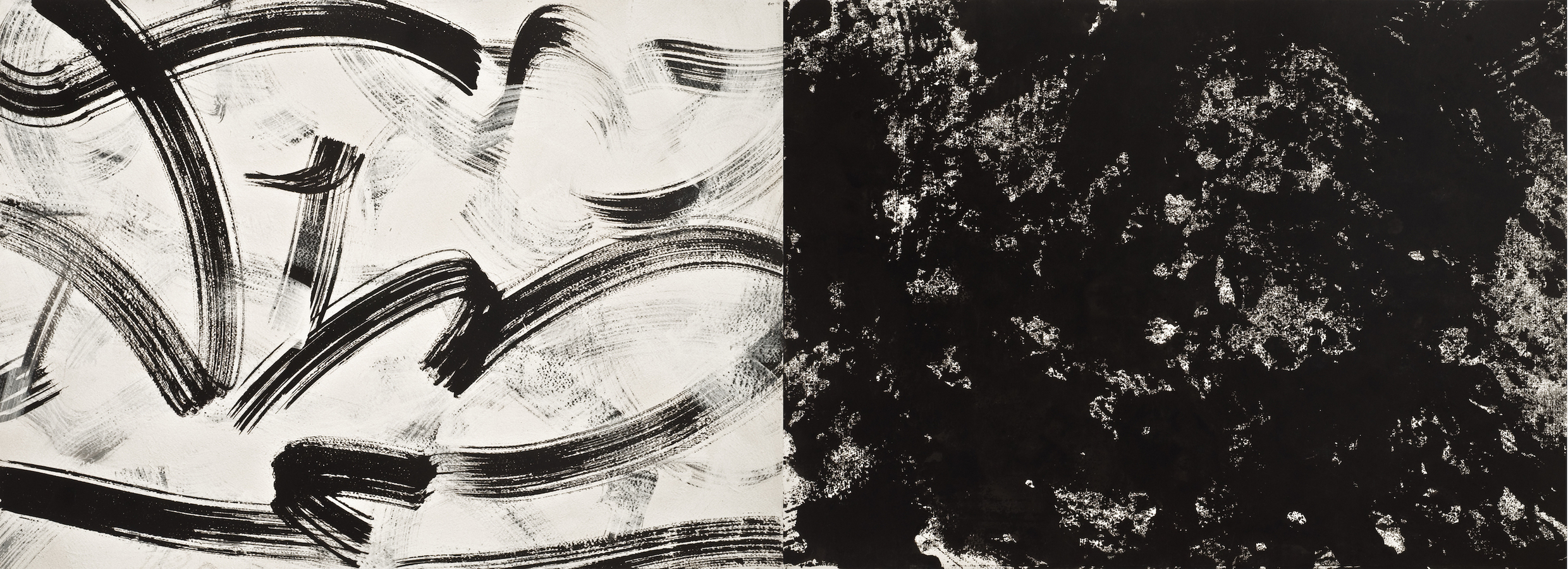 """inventory""  White Drawing II - diptych"