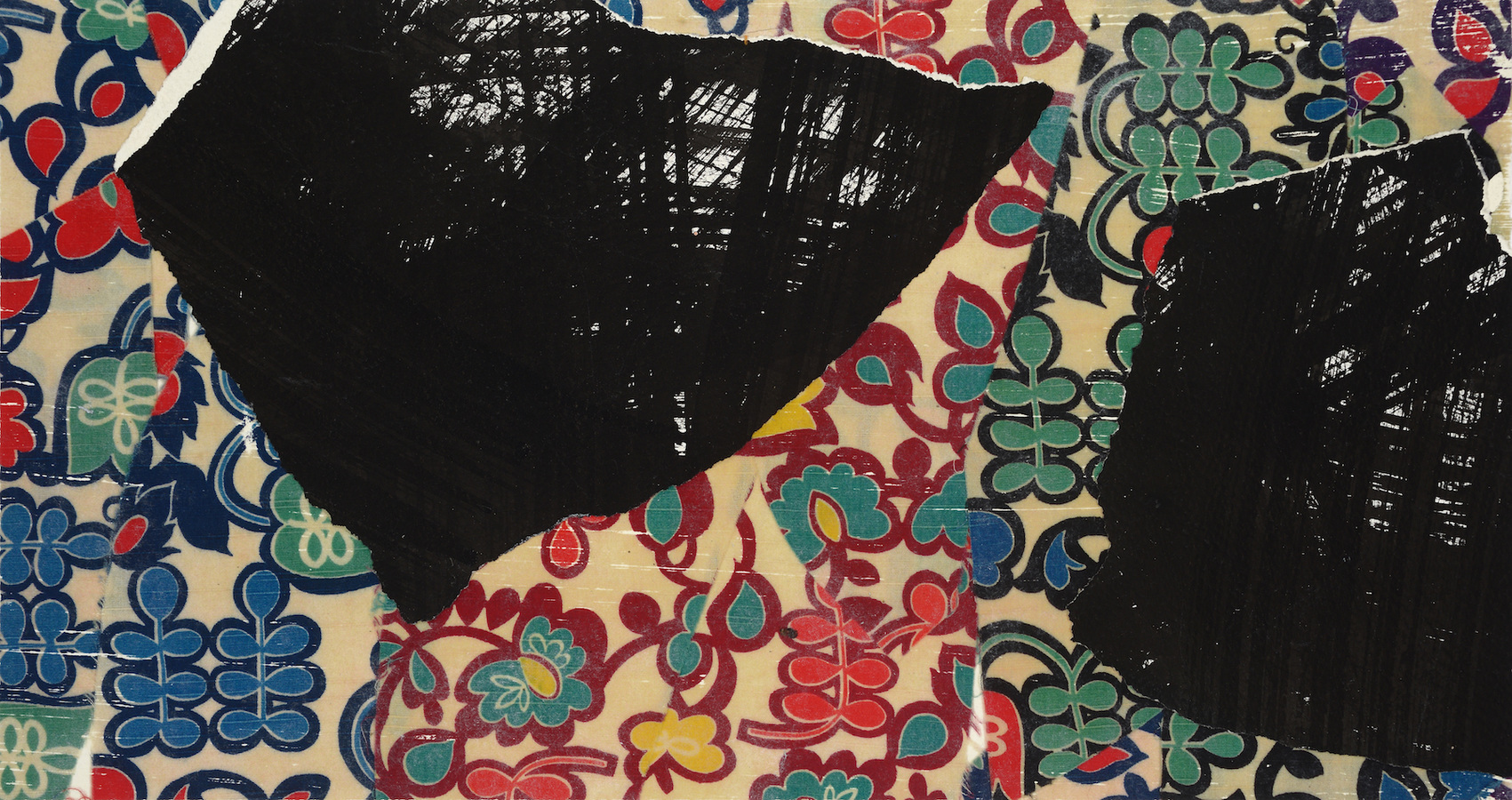 collage Black Breasts on Pattern