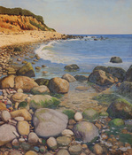 Frank Lind Large Seascapes  Oil on canvas