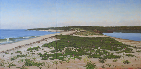 Frank Lind New Work (Seascapes) oil on canvas