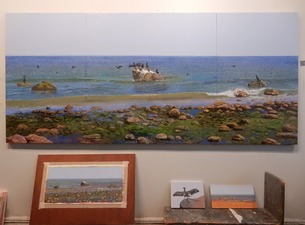Frank Lind New Work (Seascapes) Oil on canvas, paper and panels