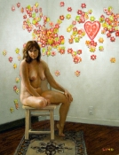 Frank Lind Nudes - Various Oil on canvas on panel