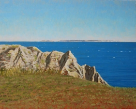 Frank Lind Small Seascapes  Oil on panel