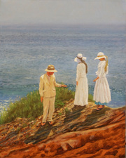 Frank Lind Homage to Sorolla (Montauk Series) Oil on linen