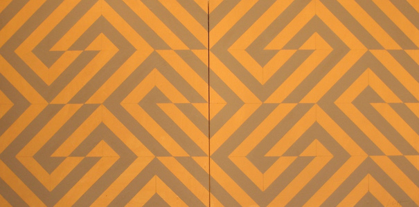Lindsay Iliff Fibonacci variations: block wall(paper) acrylic on panel