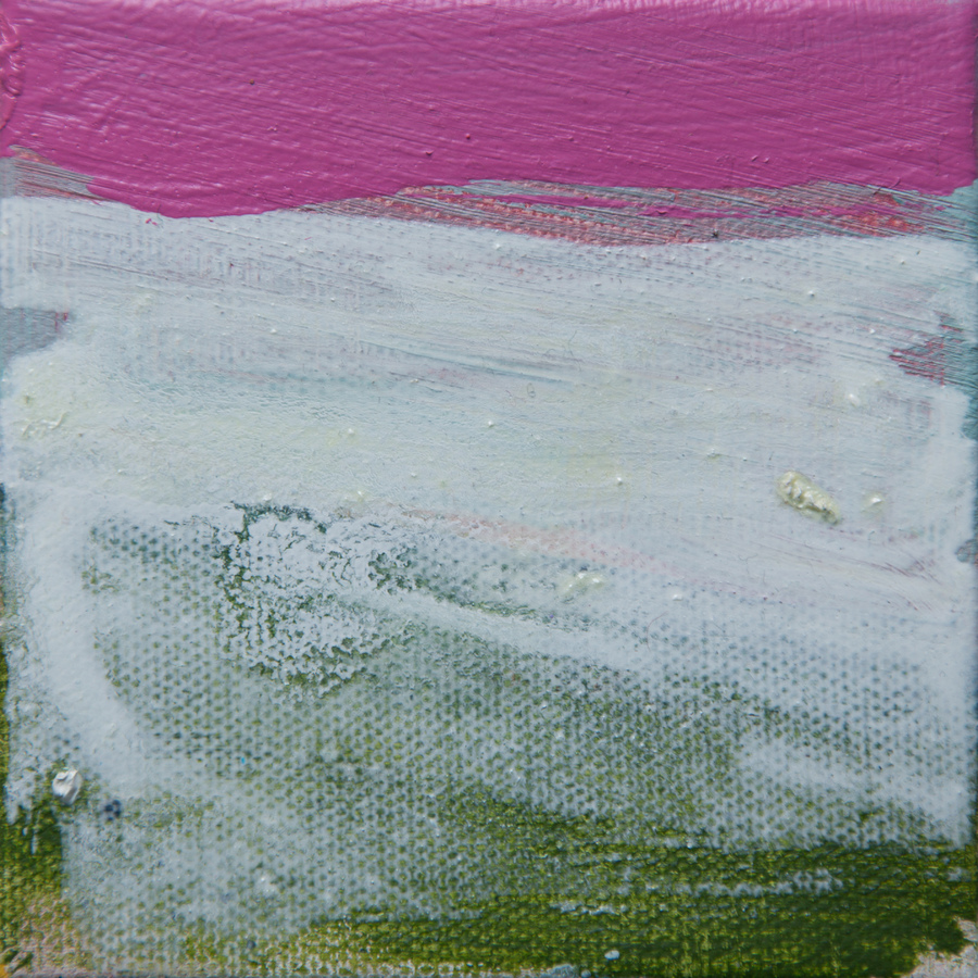 Tiny Paintings Tiny Painting #19 (white pink wash)