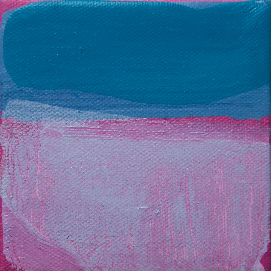 Tiny Paintings Tiny Painting #16 (pink seas)
