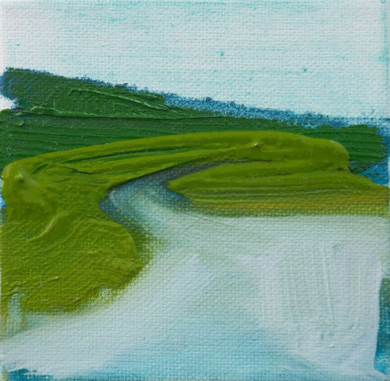 Tiny Paintings Tiny Painting: Blue Hills