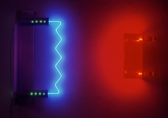 Neon Sculptures 1991-2008 Opposing Radiations