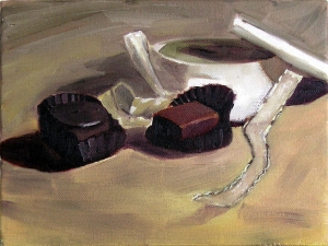 Lisa Goldfinger Still Life Oil on Canvas