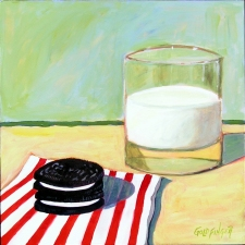 Lisa Goldfinger Still Life Acrylic on Board