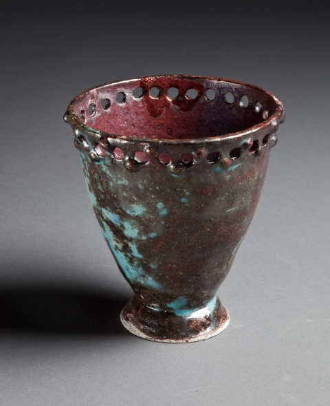 Raku and Luster ware Treasure Vase