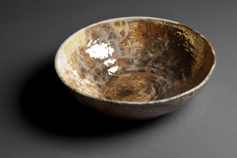 Raku and Luster ware Gold Lustre Bowl
