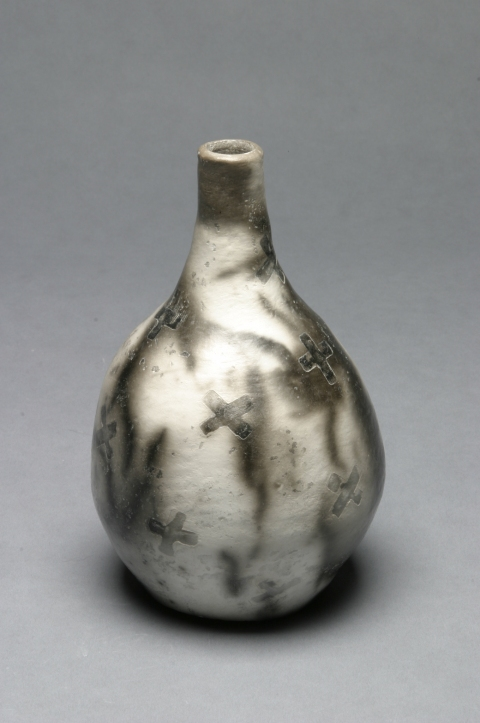 Raku and Luster ware Starburst Bottle