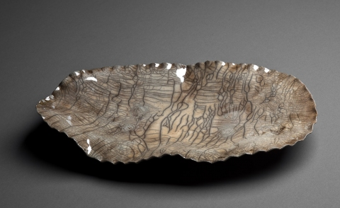 Raku, Pit Fire and Luster ware Topographical Plate