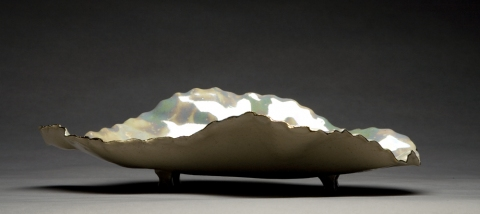 Raku and Luster ware Wave, view 1