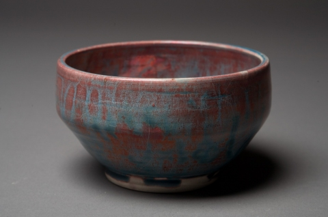 Raku, Pit Fire and Luster ware Copper Penny Bowl