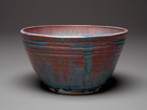 Raku and Luster ware Copper Penny Bowl