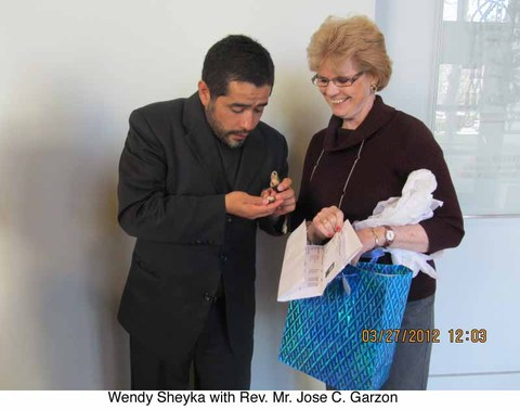 Our Lady of Lourdes Church, West Orange, NJ Wendy giving out gifts