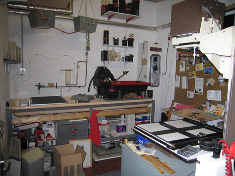 Meadow Mill Studio, Dundee, 2005 Malcolm's studio, Dundee