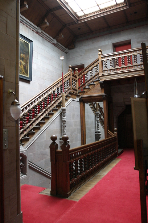 Hospitalfield, Arbroath, Scotland Stair to our room