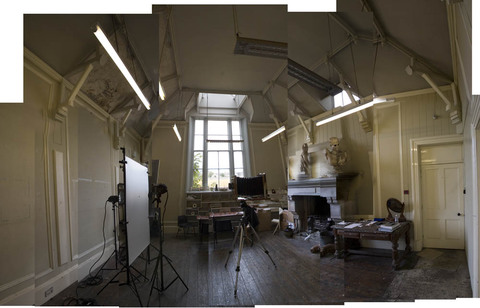 Hospitalfield, Arbroath, Scotland Panorama of Bill's studio