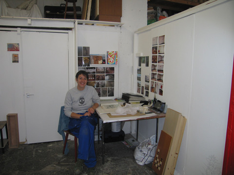 Meadow Mill Studio, Dundee, 2005 Miranda Blennerhassett in her studio
